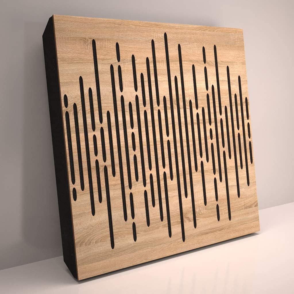 Sound Absorption-Diffuse Acoustic Panel «Wave» for rec.studio