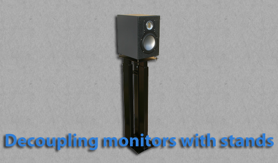 Decoupling monitors with stands