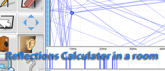 Acoustic reflections calculator for studio