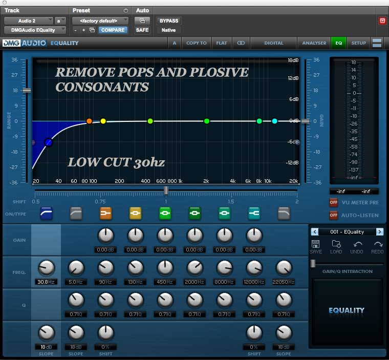 Remove pops and plosives on podcast