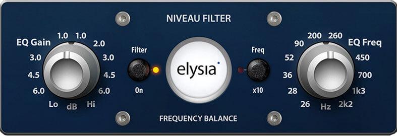 Elysia niveau filter mastering plugin